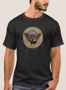 Deaths head hawk moth t-shirt by Sandra Gale/EverIris