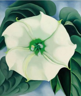Jimson Weed/White Flower #1 by Georgia O'Keeffe